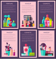 perfume makeup cosmetic cards vector image vector image