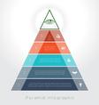 piramid 5 vector image