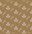 recycled paper symbol pattern seamless flat vector image
