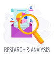 research and analysis implementation icon flat vector image vector image
