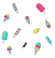 seamless ice cream pattern colorful vector image
