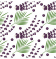 seamless pattern with superfood acai berries vector image vector image
