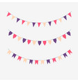 set of colored flags vector image