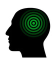 Silhouette of a human head wit the target vector image vector image