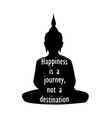 silhouette of buddha with inspirational quote vector image vector image