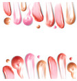 smears lipstick border on white background vector image vector image