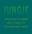 striped jungle modern font vector image vector image