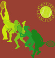 Tennis player silhouettes vector image vector image