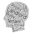 The Costliest Landlord Mistakes text background vector image vector image