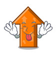 tongue out arrow mascot cartoon style vector image vector image