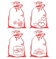 valentine symbol on bag set vector image vector image