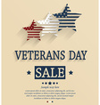 Veterans day design vector image vector image