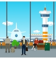 Waiting Room in Airport vector image vector image