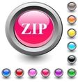 ZIP round button vector image vector image
