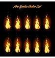 Fire animation frames icons vector image