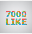 a number of likes made by colorful layered vector image vector image