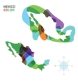 Abstract color map of Mexico vector image vector image