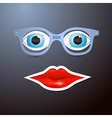Abstract Mouth Glasses and Eyes vector image