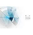 Abstract technological futuristic background with vector image vector image