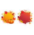 autumn banners with white background