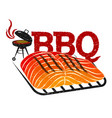 bbq meat fish design vector image vector image