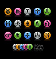 business planning and success icons - gelcolor vector image