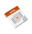 calendar isometric icon vector image
