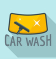 car wash wind glass logo flat style vector image