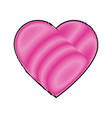 cartoon pink heart romantic love decoration symbol vector image vector image