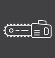 chainsaw line icon build and repair electric saw vector image vector image