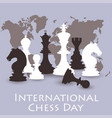 chess background international chess day card vector image