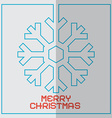 Christmas Retro With Snowflake vector image vector image