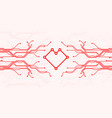 circuit board heart vector image