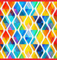 colored mosaic seamless pattern with triangle vector image