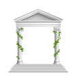 columns realistic composition vector image vector image