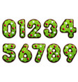cookie stylized numbers vector image