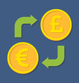 Currency exchange Euro and Pound Sterling vector image vector image