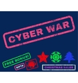 Cyber War Rubber Stamp vector image vector image