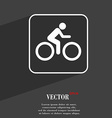 Cyclist symbol Flat modern web design with long vector image vector image