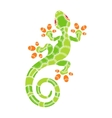 Decorative isolated cartoon lizard vector image