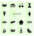 delicious icons vector image vector image