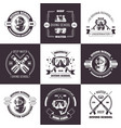diving school deep water promo monochrome emblems vector image