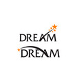 dreams template set vector image