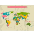 Editable world map with all Countries vector image