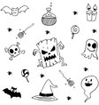 Element halloween in doodle stock vector image vector image