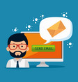 email marketing internet advertising concept vector image vector image