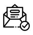 envelope message list and approved mark vector image