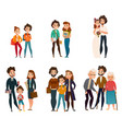 family development stages vector image vector image