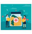 flat design humanitarian aid donate money vector image vector image