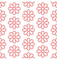 floral seamless pattern with flat line icons of vector image